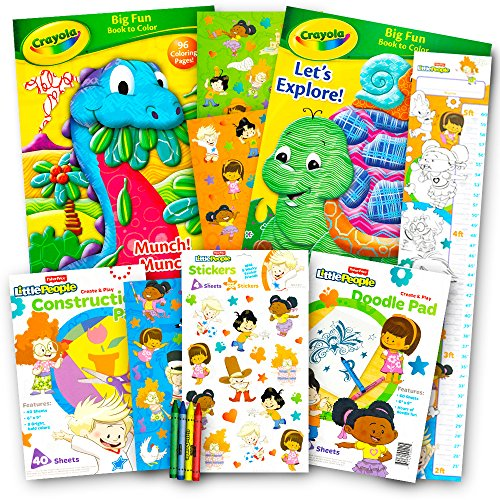 Crayola Coloring and Activity Books Set with Stickers (3 Coloring ...