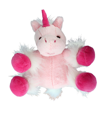 "Recordable Stuffed Unicorn With 10 Second Digital Recorder (8"", Pink)"