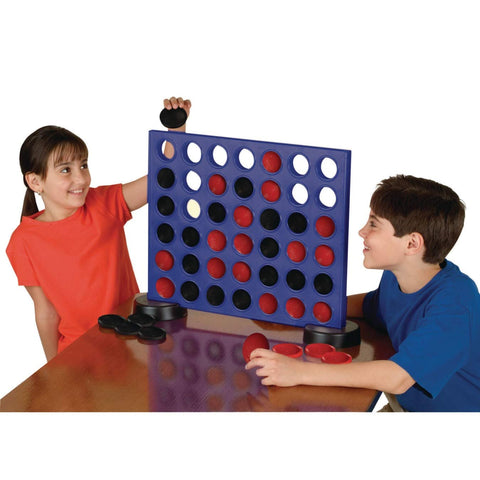 S&S Worldwide W12919 Giant 2-In-1 Four In A Row And Checkers Game
