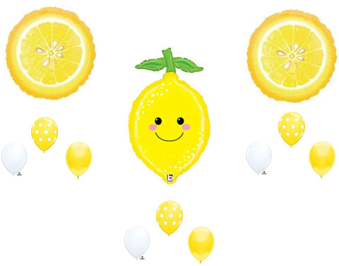Smiley Lemonade Summer Birthday Party Balloons Decoration Shower Fruit Tutti