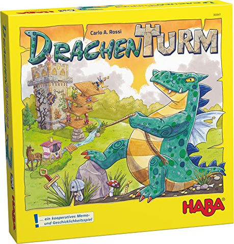 HABA Dragon Tower - A Cooperative Game for Fearless Heros for Ages 5-99 (Made In Germany)