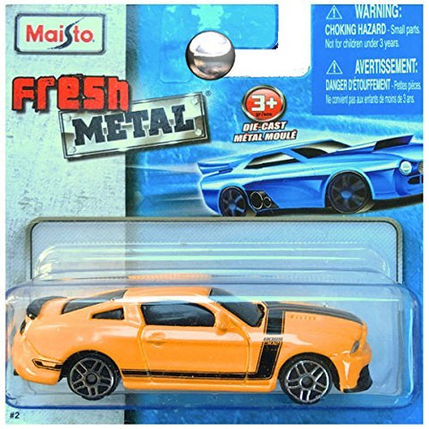 Maisto Fresh Metal Die-Cast Vehicles ~ Ford Mustang Boss 302 (Yellow / Black Accents)