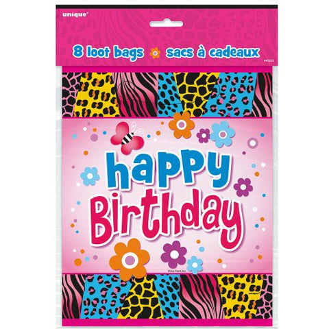 Wild Birthday Favor Bags, 8ct