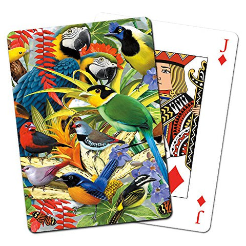 Tree-Free Greetings Deck of Playing Cards, 2.5 x 0.8 x 3.5 Inches, Rainforest Birds  (CD49808)