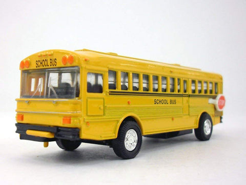 5 Inch Long Yellow School Bus Diecast Metal Model