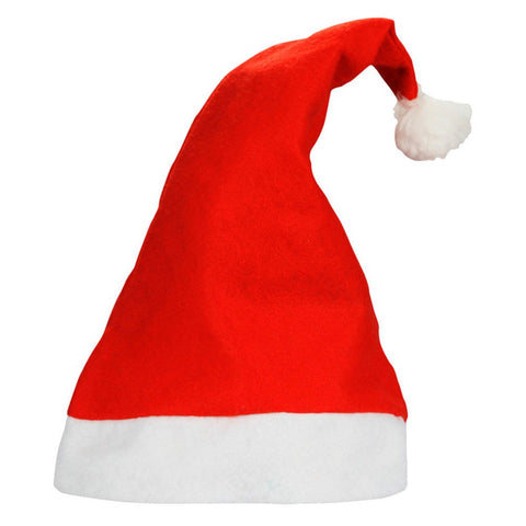 Yansanido Traditional Red And White Plush Christmas Santa Hat For Children