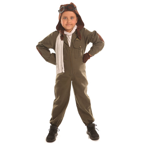Disiao Air Force Pilot Costume For Little Boy Halloween Suits Cosplay (S)