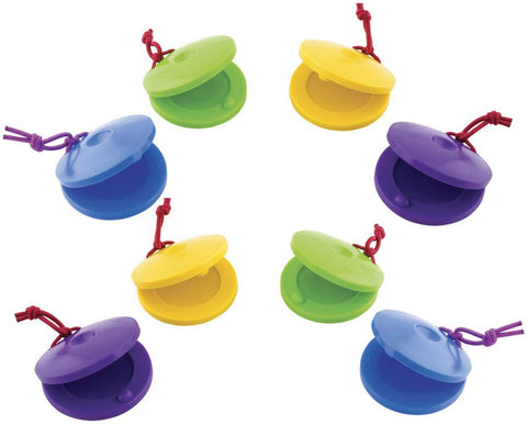 Plastic Finger Castanets - Set Of 8