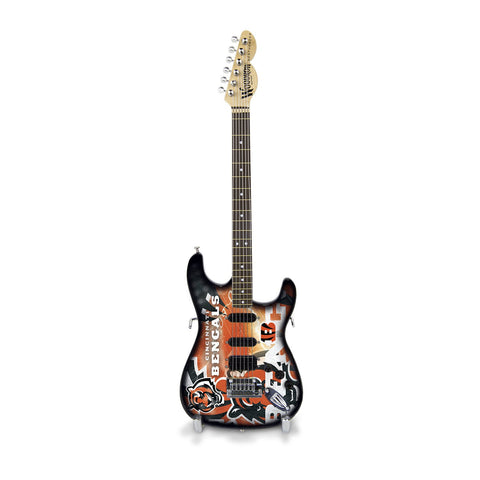 Woodrow Guitar By The Sports Vault Nfl Cincinnati Bengals Collectible Mini Northender Guitar