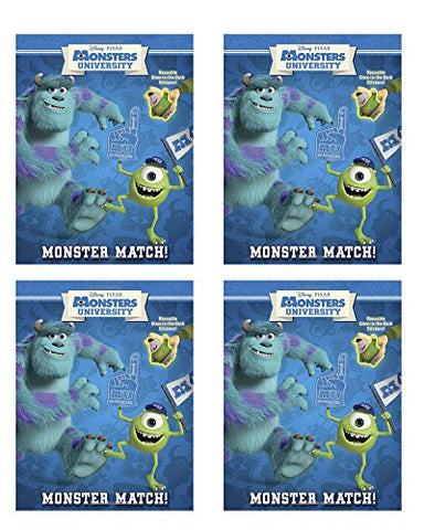 Monsters University Reusable Glow in the Dark Sticker Book  Monster Match