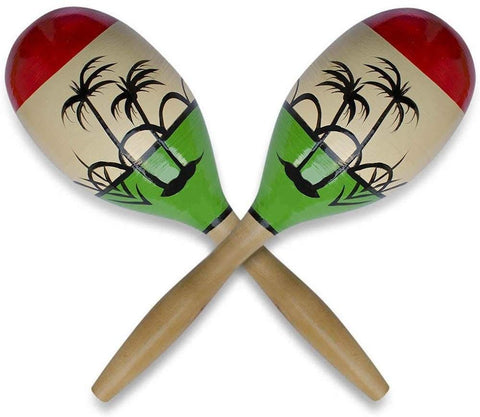 Bestpysanky Set Of 2 Crisp Rattle Large Wooden Mexican Maracas 11 Inches