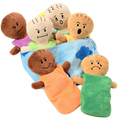 Constructive Playthings Expression Babies Plush Dolls, Super Soft Baby Dolls Set, 6 Piece Set For All Ages