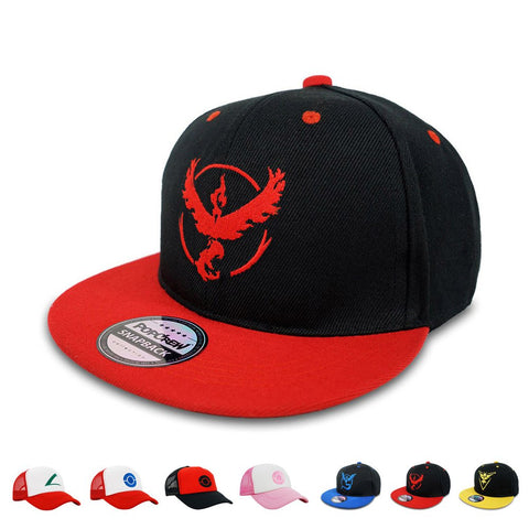 Popcrew Embroidered Team Trainer Hat For Anime Cosplay Costume, Trucker, Snapback Cap (Team Valor S)