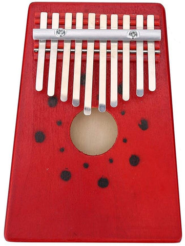 Portable 10 Keys Thumb Piano Finger Kalimba For Beginner Children Training Tool (Color : Red)