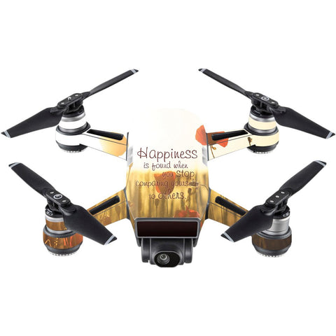 Mightyskins Skin Compatible With Dji Spark Mini  Be Happy | Protective, Durable, And Unique Vinyl Decal Wrap Cover | Easy To Apply, Remove, And Change Styles | Made In The Usa