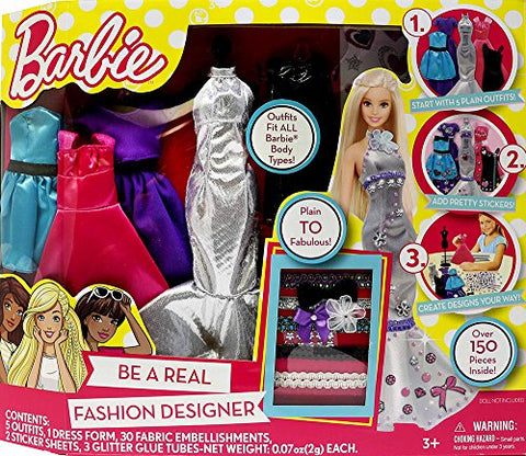 Barbie Be a Fashion Designer Doll Dress Up Kit