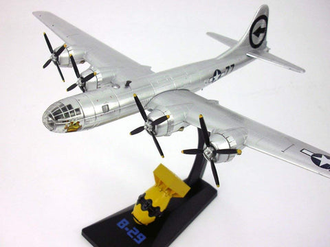 Boeing B-29 Superfortress Bockscar At 1/144 And Fat Man Bomb At 1/72 Scale Diecast Model