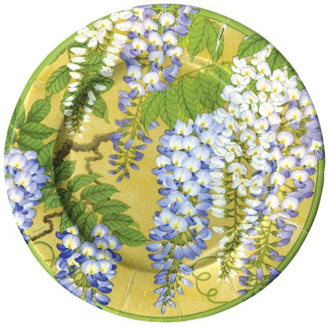 Entertaining With Caspari Wisteria Paper Salad/Dessert Plates