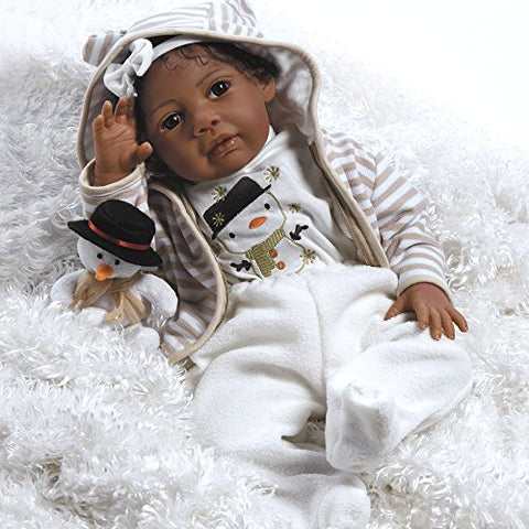 Paradise Galleries Reborn Baby Doll Like African American Real BornBaby Doll, Baby Kione, Girl Doll Crafted in Soft Vinyl and Weighted Body, 20 inch