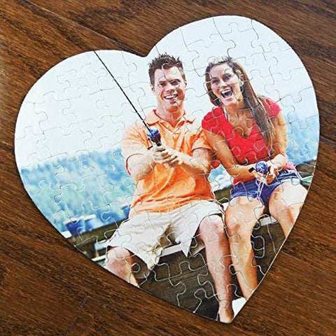 Centergifts Personalized Heart Shaped Jig-Saw Puzzle With Custom Image Printed