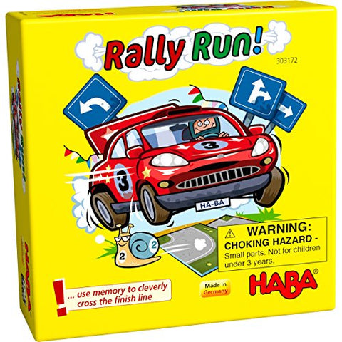 HABA Rally Run! - A Tricky Memory Matching Pocket Sized Game for Ages 5+ (Made in Germany)