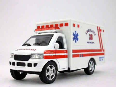 5 Inch Fire Department Ambulance Model - White