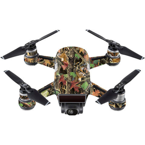 Mightyskins Skin Compatible With Dji Spark Mini - Buck Camo | Protective, Durable, And Unique Vinyl Decal Wrap Cover | Easy To Apply, Remove, And Change Styles | Made In The Usa