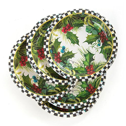Mackenzie-Childs Holly &Amp; Berry 7-In Holiday Paper Salad/Dessert Plates (20 Count)