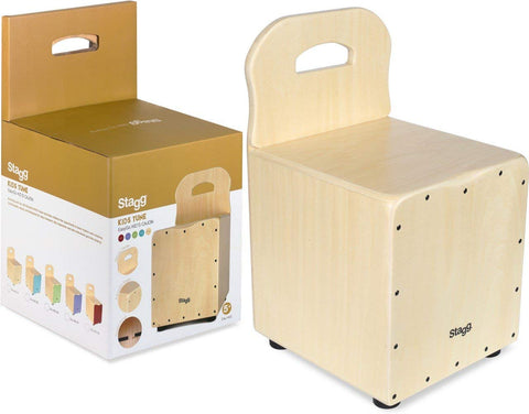 Stagg Caj N Kids Cajon With Easygo Backrest-Natural