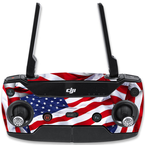 Mightyskins Skin Compatible With Dji Spark Mini Drone Controller  Patriot | Protective, Durable, And Unique Vinyl Decal Wrap Cover | Easy To Apply, Remove, And Change Styles | Made In The Usa