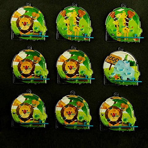 Mini Pinball Maze Game - Classic Animal Maze Pinball Games - Party Favor Includes 4 Animal Style Boards
