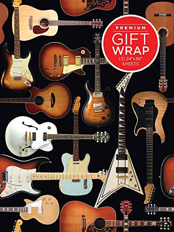 Music Treasures Co. Guitar Retro Theme Wrapping Paper