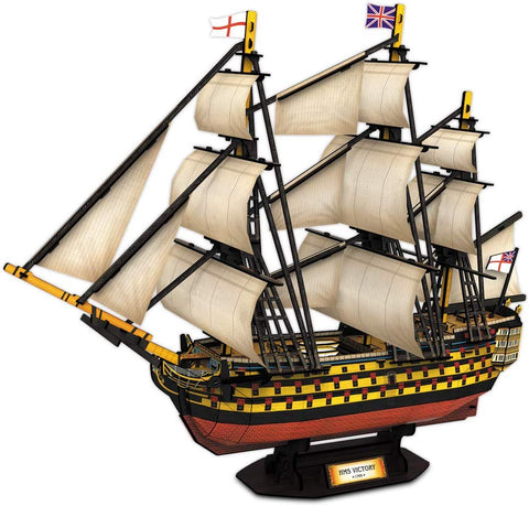 Cubicfun 3D Puzzles Large Hms Victory Vessel Ship Sailboat Model Kits For Adults And Teens Toys, 189 Pieces, T4019H