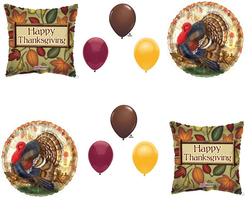 Thanksgiving Turkey Dinner Banquet Balloons Decoration Supplies 10 Pieces Party