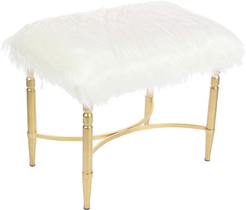 Deco 79  Stool, White/Gold