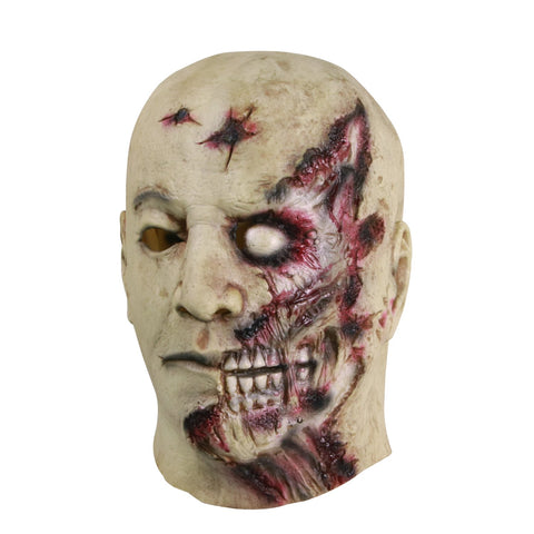 Molezu Halloween Novelty Mask Costume Party Latex Horror Mask Gray