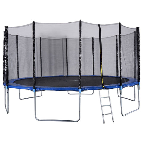 Giantex Trampoline Combo Bounce Jump Safety Enclosure Net W/Spring Pad Ladder, 16Ft