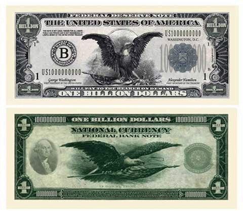50 Billion Dollar Federal Reserve Notes With Bonus Thanks A Million Gift Card Set