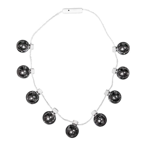 Led Light Up Disco Ball Necklace Party Favor