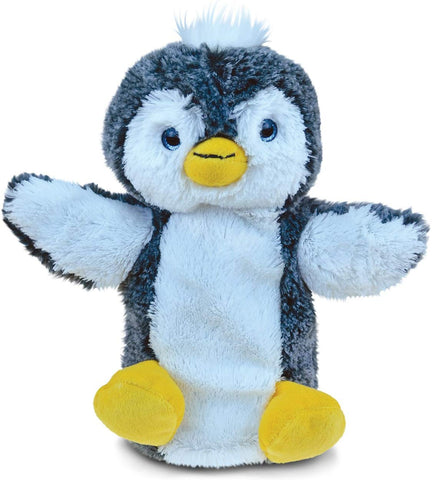 Puzzled Penguin Super-Soft Stuffed Plush Puppet Cuddly Animal Toy - Animals/Birds/Ocean Theme - 9 Inch - Unique Huggable Loveable New Friend Gift - Item #5797