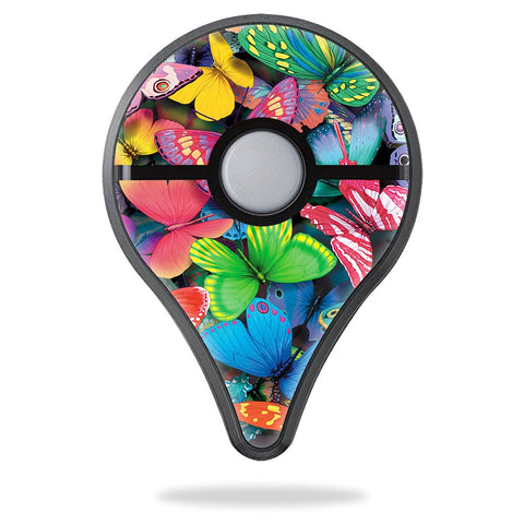 Mightyskins Skin Compatible With Pokemon Pokemon Go Plus - Butterfly Party | Protective, Durable, And Unique Vinyl Decal Wrap Cover | Easy To Apply, Remove, And Change Styles | Made In The Usa