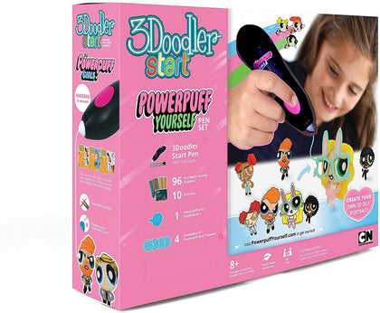 3Doodler Start Licensed Powerpuff Yourself 3D Pen Set For Kids, Black Pen, With  Refill Plastic Filaments