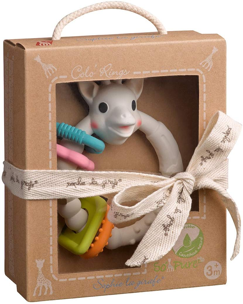Sophie La Girafe So Pure Coloring Teether By Vulli