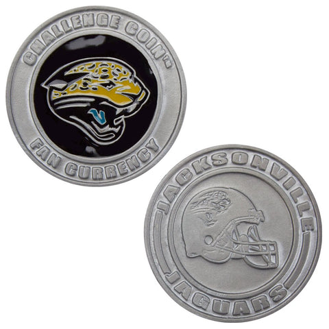 Jacksonville Jaguars Challenge Coin Poker Card Cover - Comes With Free Cut Card! (Jacksonville)