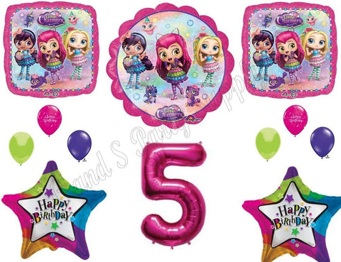 Little Charmers 5Th Fifth Birthday Party Balloons Decoration Supplies Nick Hazel