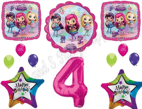 Little Charmers 4Th Fourth Birthday Party Balloons Decoration Supplies Nick Hazel