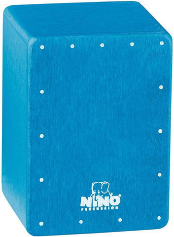 Nino Percussion Nino955B Mini Cajon Shaker, Blue