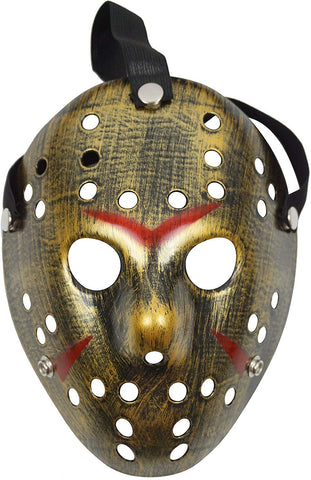 Lovful Costume Mask Prop Horror Halloween Cosplay Party Mask,Gold Black