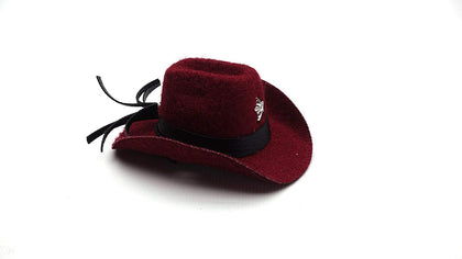 Carolina Designer Dragons' Bearded Dragon Cowboy Hat, Dark Red