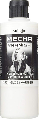 Vallejo Mecha Gloss Varnish 200Ml Painting Accessories